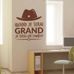 Quand je serai grand je serai un cowboy