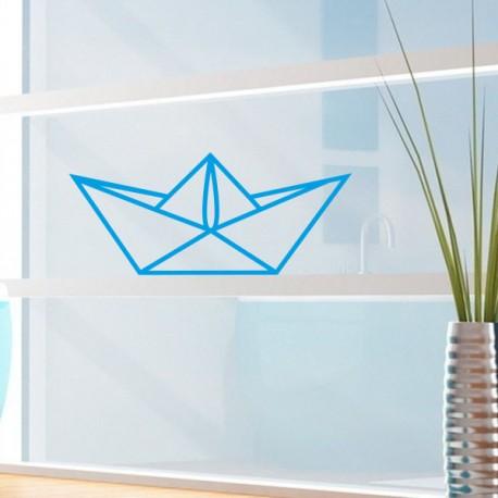 stickers bateau origami