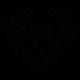 stickers coeur géométrique