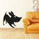 Stickers mural décoratif chien joueur