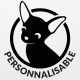 Sticker chien chihuahua personnalisable