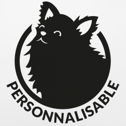 Sticker chien personnalisable spitz chihuahua