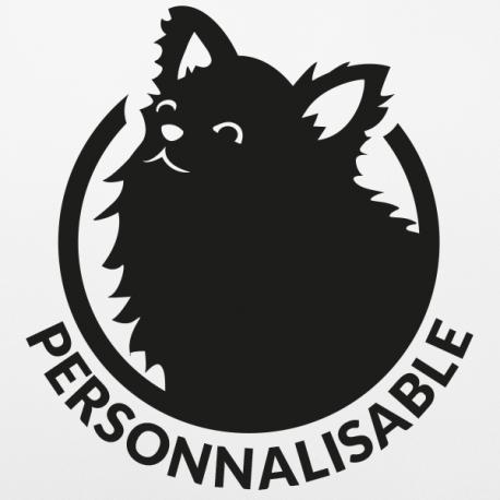 Sticker chien personnalisable spitz chihuahua