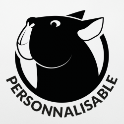 Stickers chien personnalisable Bulldog