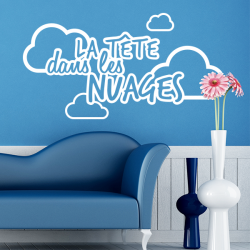 stickers citation expression la tete dans les nuages