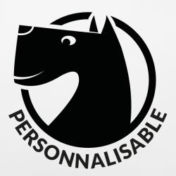 Stickers voiture chien Terrier personnalisable