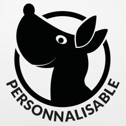 Stickers voiture chien personnalisable pas cher