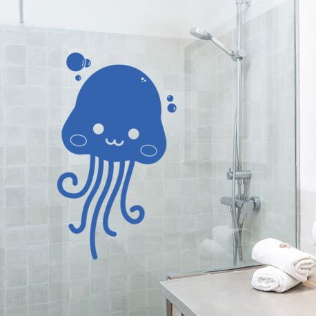sticker mural méduse