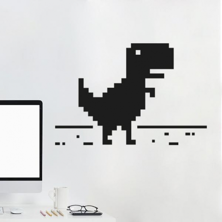 sticker dinosaure T-rex connexion