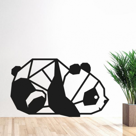 sticker panda origami