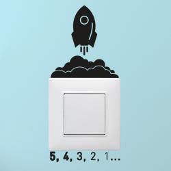 Sticker interrupteur fusée