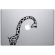 Sticker macbook girafe