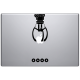 sticker macbook machine a pince fete foraine