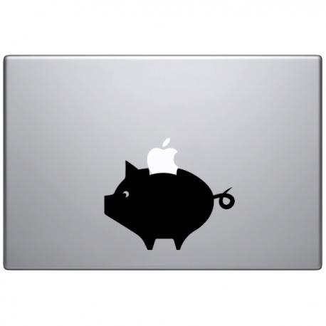 sticker macbook tirelire cochon
