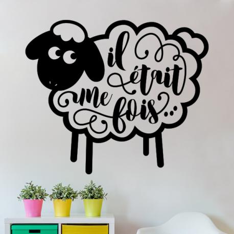 sticker mural mouton Il était une fois chambre enfant