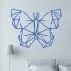 sticker mural papillon origami geometrique