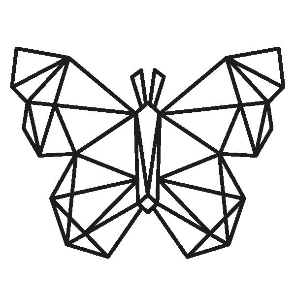 Stickers papillon origami| Optimistick