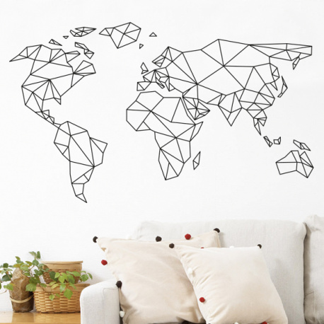Stickers mappemonde optimistick for Decoration murale isolante