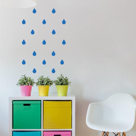Stickers planche goutte de pluie - 70 pièces