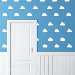planche stickers nuage enfant décoration