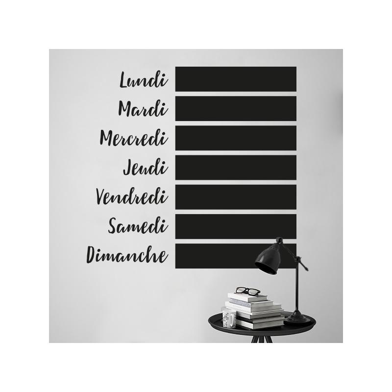 tableau semainier ardoise fabulous intiss tableau blanc semainier coloris blanc with tableau. Black Bedroom Furniture Sets. Home Design Ideas