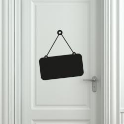 sticker pancarte ardoise boutique open close