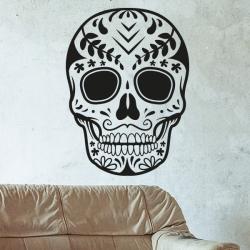 sticker tête de mort mexicaine halloween Crâne mexicain ♂