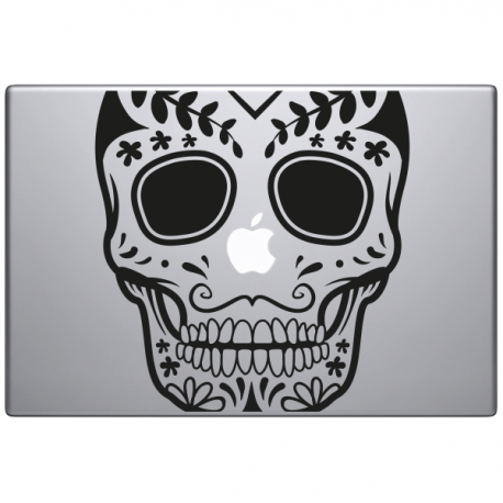 sticker macbook crane mexicain halloween