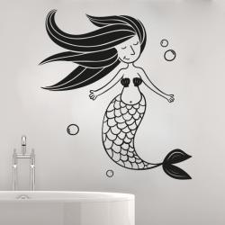 sticker mural petit sirène sirène bulle enfant