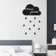 sticker nuage ardoise deco scandinave mural cloud gouttes pluie