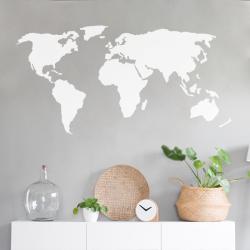 sticker mural mappemonde carte du monde voyage deco mur scandinave