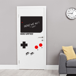 sticker mur ardoise Game boy porte jeu video enfant