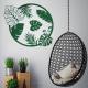 sticker deco feuilles tropicales exotique tendance rond