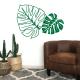 sticker mural décoration feuilles tropicales exotiques