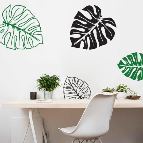 stickers deco mural tendance exotique  Feuilles tropicales