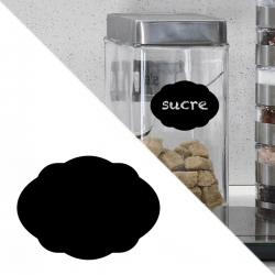 sticker ardoise cuisine autocollant étiquette bocaux pot