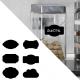 sticker ardoise etiquette lot au choix vintage craie cuisine