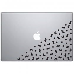 sticker autocollant macbook apple Memphis style