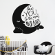 Love you to the moon sticker deco chambre enfant bebe