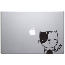 sticker macbook sacha le chat mignon