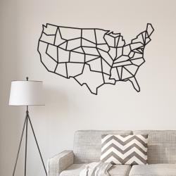 sticker carte états unis usa amerique géométrique