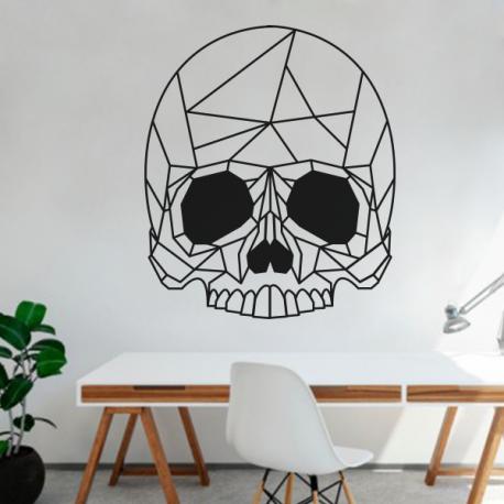 sticker halloween tête de mort crane skull deco