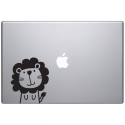 sticker Macbook - Léon le lion