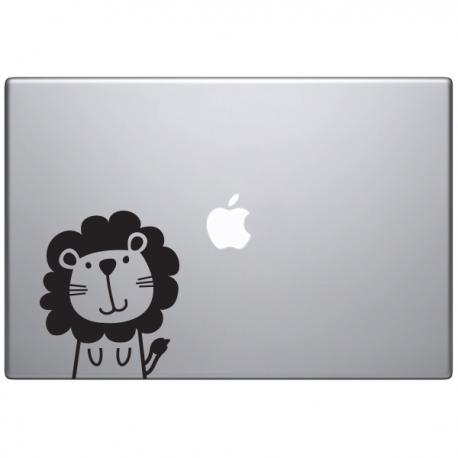 sticker Macbook - Léon le lion