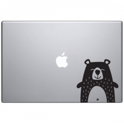 Macbook sticker animaux Frimousse l'ours