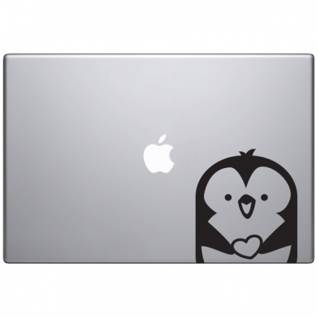Macbook sticker animaux optimistick Marin le pingouin