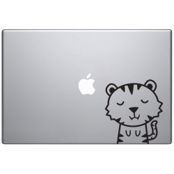 Macbook sticker animaux  Timmy le tigre