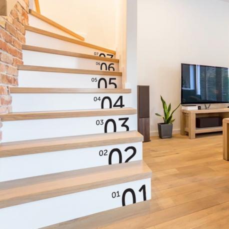 sticker numero chiffre nombre escaliers contremarche deco