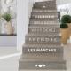 sticker citation escaliers pas ascenseur succès prendre les marches contremarche