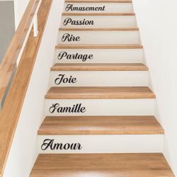 15 mots - personnalisable - Escaliers